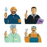 Quatro profissões ajustadas Foto de Stock