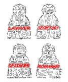 Quatro profissionais ajustados Imagem de Stock