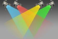 Quatro projectores Fotografia de Stock Royalty Free