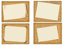 Quatro projetos antigos do papel ilustração stock
