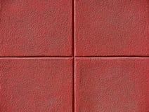 Quatro quadrados vermelhos Foto de Stock Royalty Free