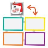 Quatro quadros coloridos Imagens de Stock