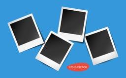 Quatro quadros da foto com sombras Fotografia de Stock