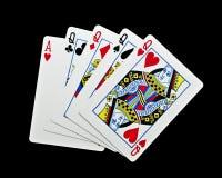 Quatro Queens e Ace Imagens de Stock Royalty Free