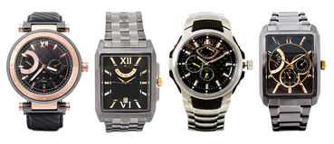 Quatro relógios Foto de Stock