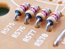Quatro resistores imagens de stock