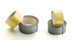 Quatro rolos da fita adesiva imagem de stock