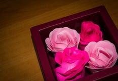 Quatro rosas Fotografia de Stock