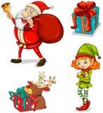 Quatro símbolos do Natal Fotografia de Stock Royalty Free