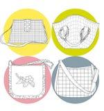 quatro sacos Fotografia de Stock Royalty Free
