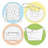 Quatro sacos ilustração do vetor
