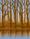 Quatro Seasons_Autumn ilustração do vetor