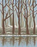 Quatro Seasons_Winter ilustração stock