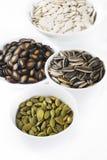Quatro sementes da grão Foto de Stock Royalty Free