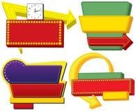 Quatro sinais de anúncio retros ilustração royalty free