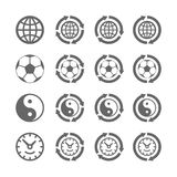 Quatro símbolos de mover-se eterno Fotografia de Stock Royalty Free