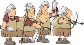 Quatro soldados ilustração royalty free