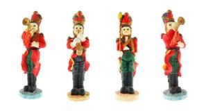 Quatro soldados isolados Fotografia de Stock