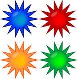 Quatro teclas coloridas do prêmio do gel ilustração do vetor