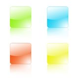 Quatro teclas de vidro Ilustração Stock