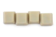Quatro teclas em branco do computador Imagem de Stock