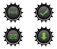 Quatro teclas plásticas para o Web Fotos de Stock