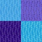 Quatro testes padrões abstratos Imagens de Stock Royalty Free