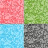 Quatro testes padrões abstratos sem emenda do vetor Imagens de Stock Royalty Free