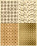 Quatro testes padrões coloridos mornos Foto de Stock