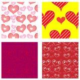 Quatro testes padrões do Valentim Imagens de Stock