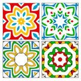 Quatro testes padrões espanhóis da telha Foto de Stock Royalty Free