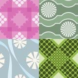 Quatro testes padrões geométricos Fotos de Stock