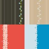 Quatro testes padrões sem emenda coloridos Fotos de Stock Royalty Free