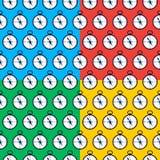 Quatro testes padrões sem emenda do compasso Imagem de Stock