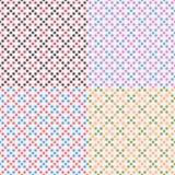 Quatro testes padrões sem emenda geométricos do vetor Fotos de Stock
