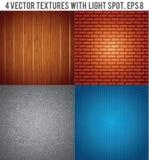 Quatro texturas com ponto claro. Fundo do vetor ilustração do vetor