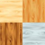 Quatro texturas de madeira ilustração stock