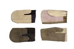 Quatro tipos de luvas do trabalho Com trajeto de grampeamento Imagem de Stock Royalty Free