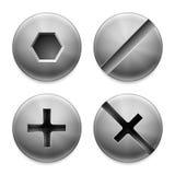 Quatro tipos de parafusos. ilustração royalty free