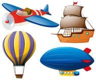 Quatro tipos de transportes Imagem de Stock