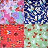 4 testes padrões de Washi Imagem de Stock Royalty Free
