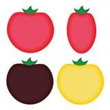 Quatro tomates simples dos desenhos animados ilustração royalty free