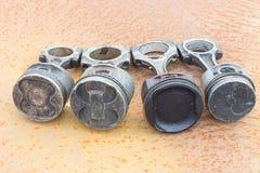 Quatro várias hastes de pistão Imagem de Stock Royalty Free