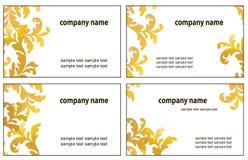 Quatro variações de cartões da visita Fotos de Stock