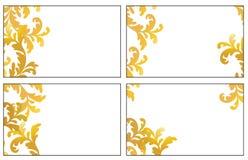 Quatro variações de cartões da visita Foto de Stock Royalty Free