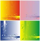 Quatro variações de um fundo Imagem de Stock