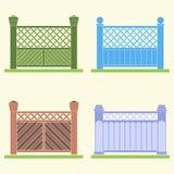 Quatro versões de uma cerca, vetor Fotografia de Stock Royalty Free