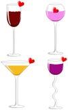 Quatro vidros do amor Fotografia de Stock Royalty Free