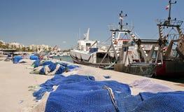 Quatside at Garrucha Harbor and Marina. Quayside at Garrucha Harbor and Marina, Almeria, Andalusia, Spain Stock Photography