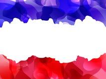 Quattordici di luglio Illustrazione di vettore con la bandiera francese illustrazione di stock